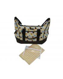 Bellotte Tote Diaper Bag in Blue Dots