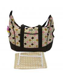 Bellotte Tote Diaper Bag in Pink Dots