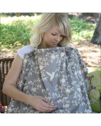 Hooter Hiders Ruffle Nursing Cover in Nest
