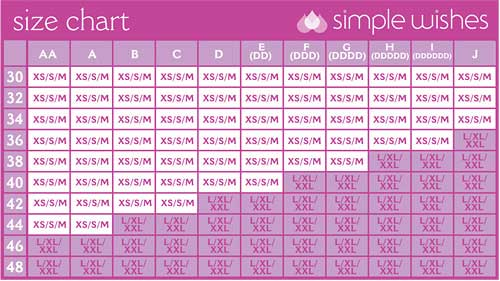Simple Wishes Sizing Chart