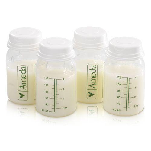 Ameda Breast Milk Storage Bottles 4oz 4 pack