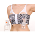 PumpEase Hands-free Pumping Bra in Snowy Leopard