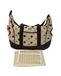 Bellotte Tote Diaper Bag in Pink Dots