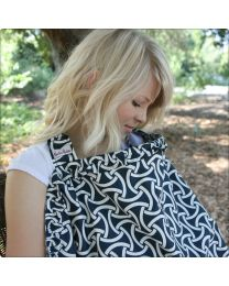 Hooter Hiders Ruffle Nursing Cover in Camden Lock