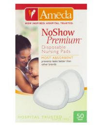 Ameda NoShow Premium Disposable Nursing Pads 50 ct
