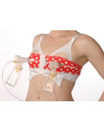 PumpEase Petite Hands-free Pumping Bra in T-bird