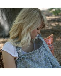 Hooter Hiders Ruffle Nursing Cover in Mariposa